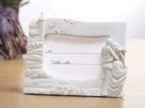 Happily Ever After Bride & Groom Place Card Photo Frame Holders